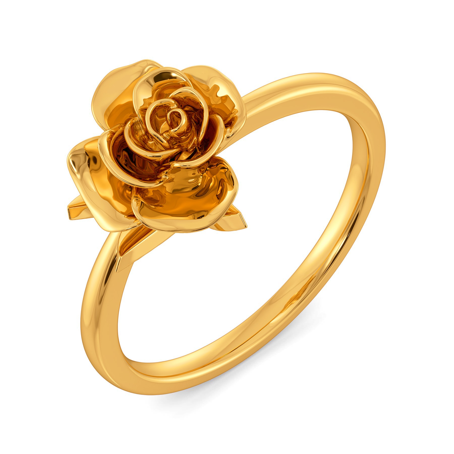 Buy Aphrodite Rose Gold Rings @ Melorra.com