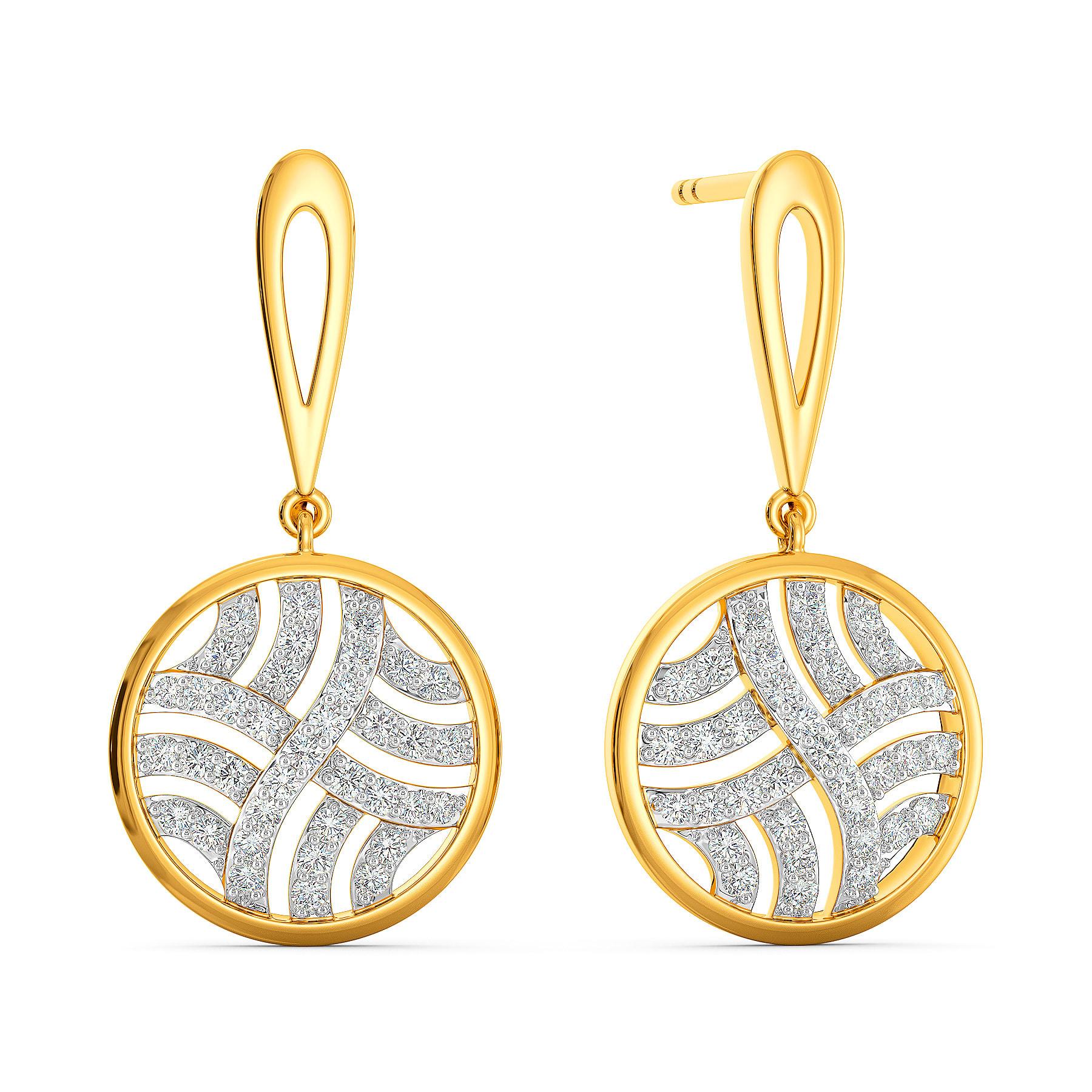 Buy Cool Parisian Diamond Earrings Melorra Com