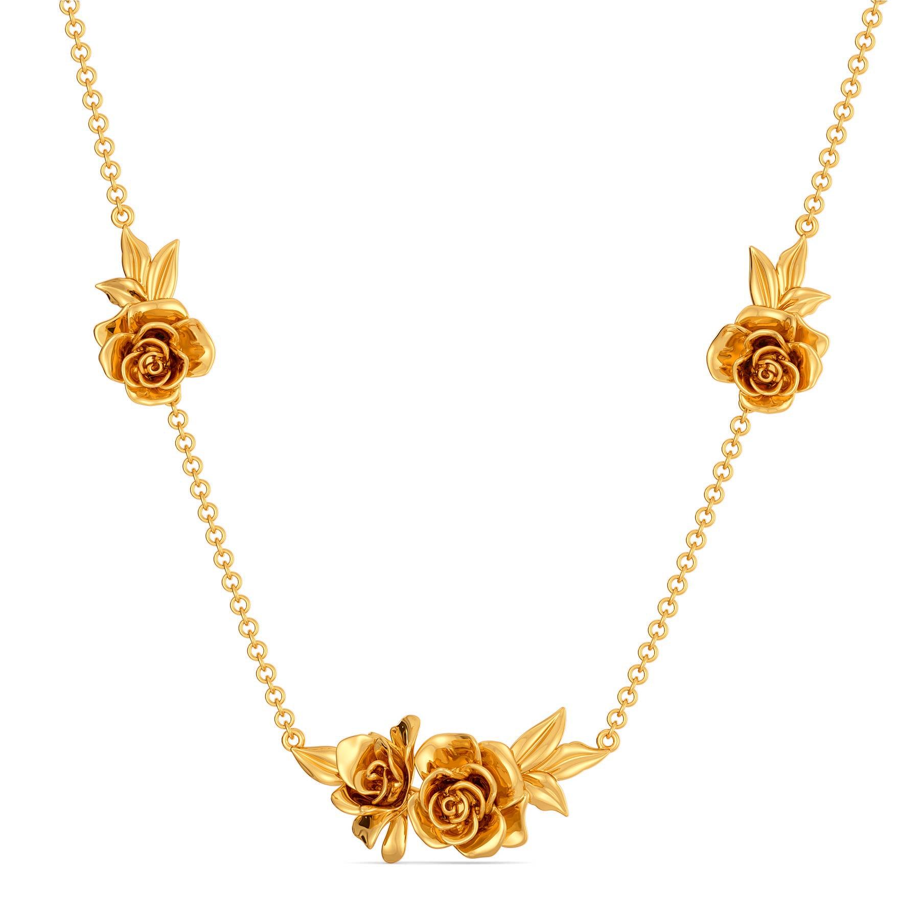 Buy Rose Retreat Gold Necklaces Melorra Com