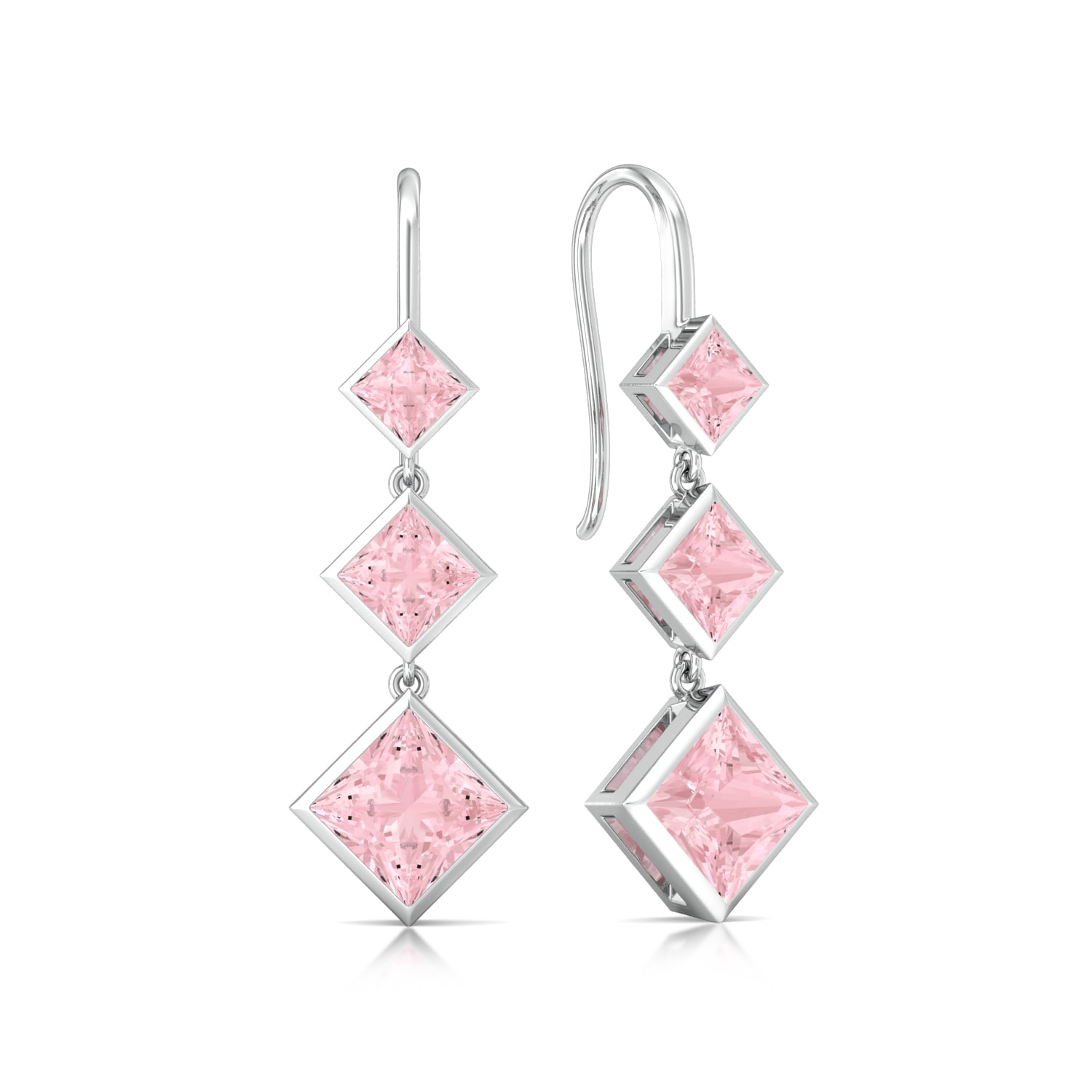 Pink Candy Gemstone Earrings