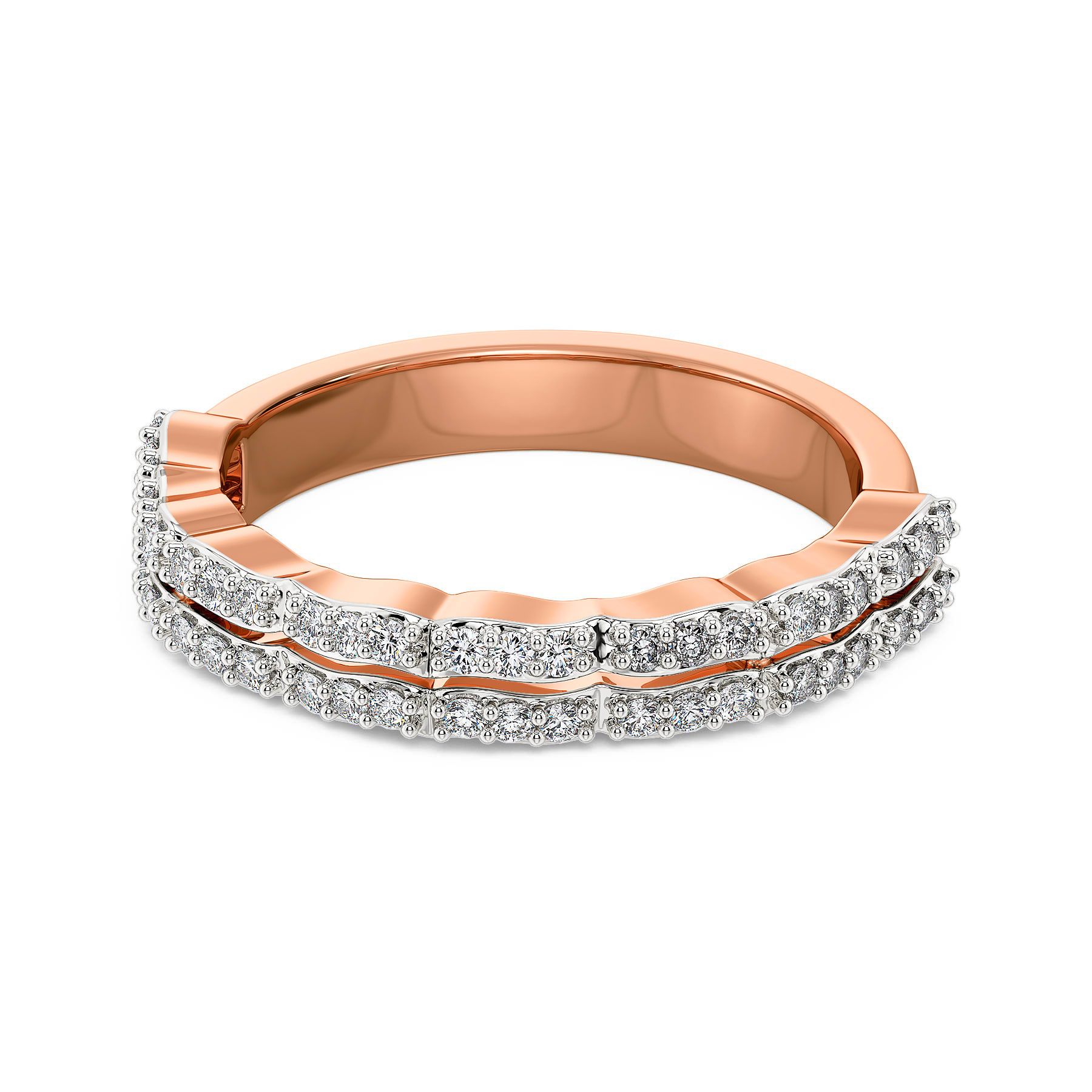 Rosy Rhomb Diamond Rings
