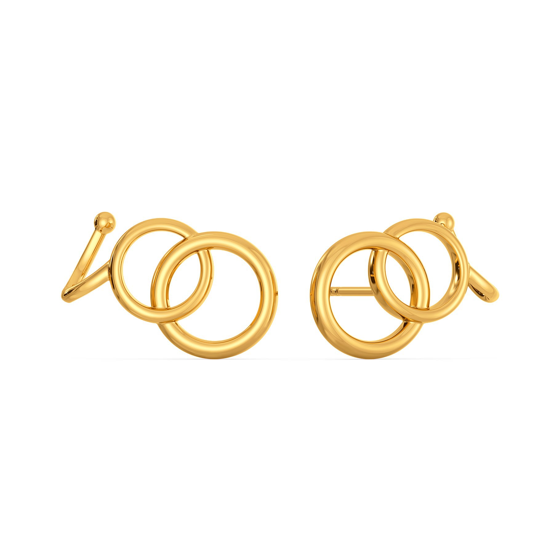 Dramatic Chains Gold Earrings
