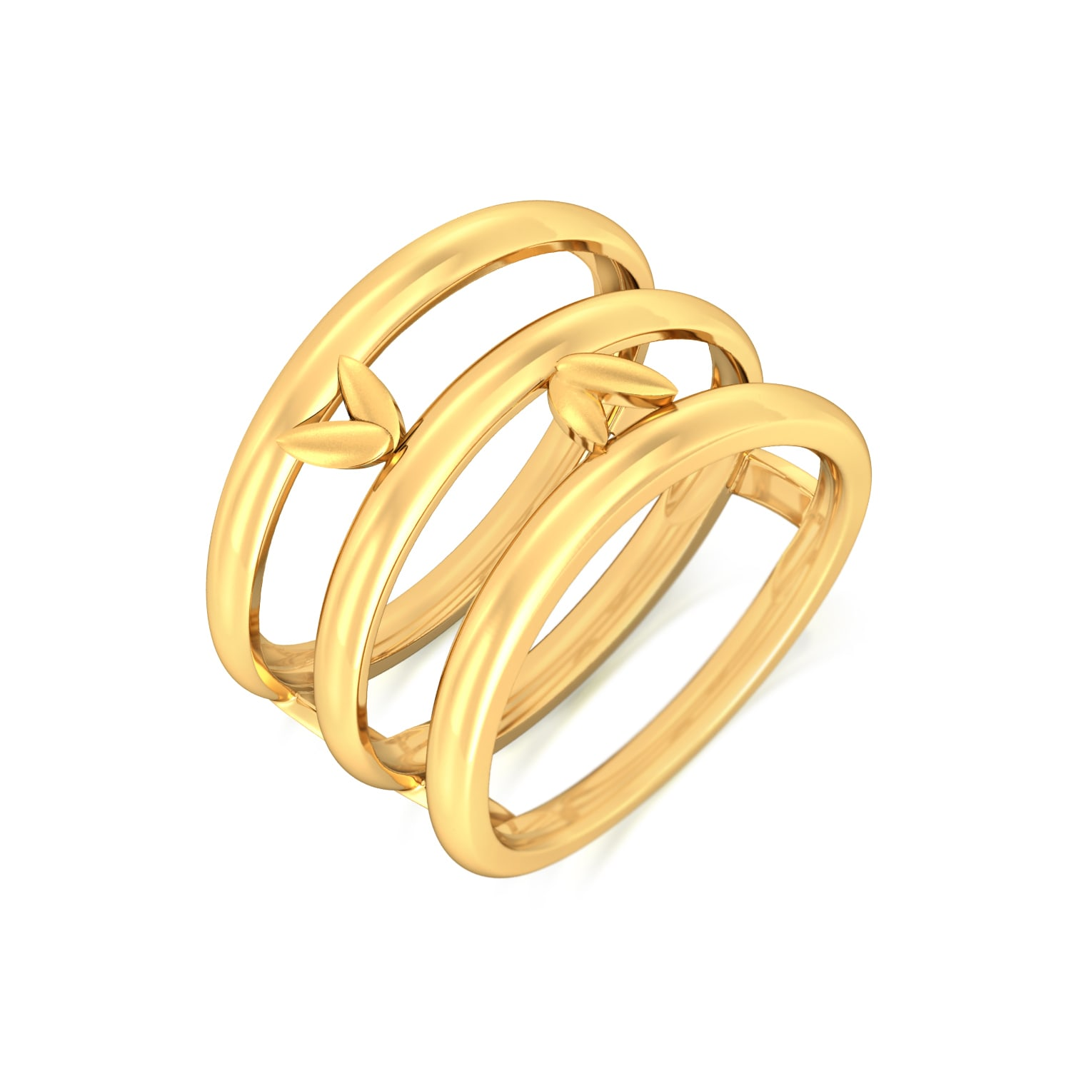 Stylised Flora Gold Rings