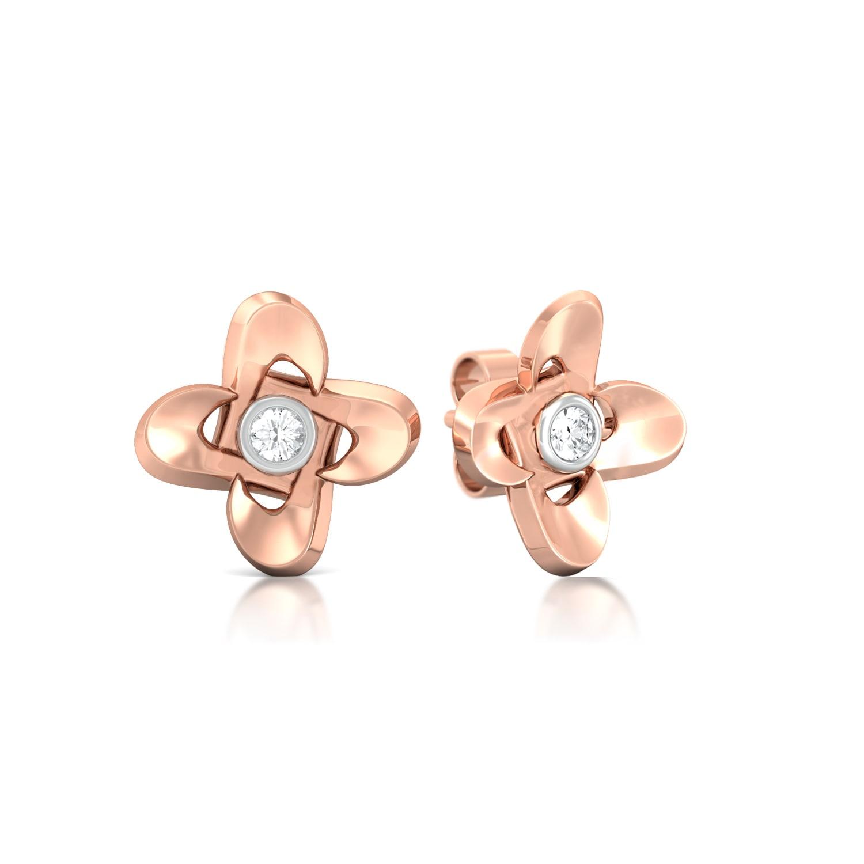 Cuckoo-Flower Diamond Earrings
