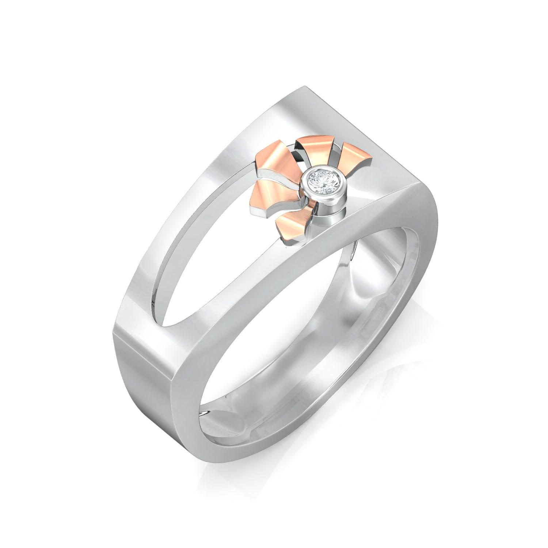 Ikebana Diamond Rings