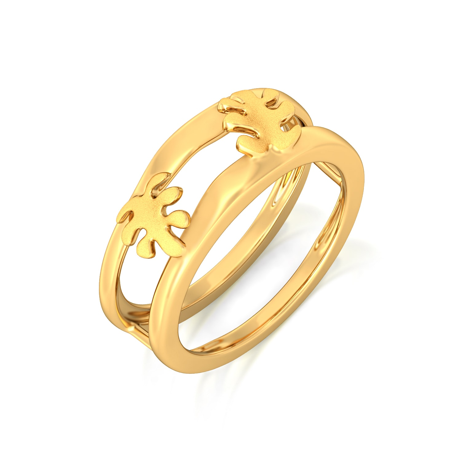 Oak Leaf Gold Rings