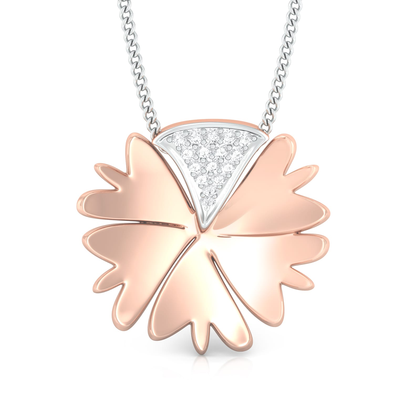 Rosy Daisy Diamond Pendants