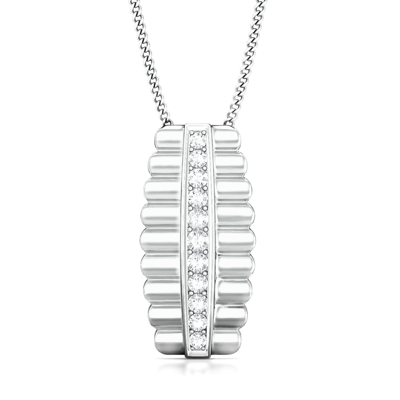 Ribbed Aisle  Diamond Pendants