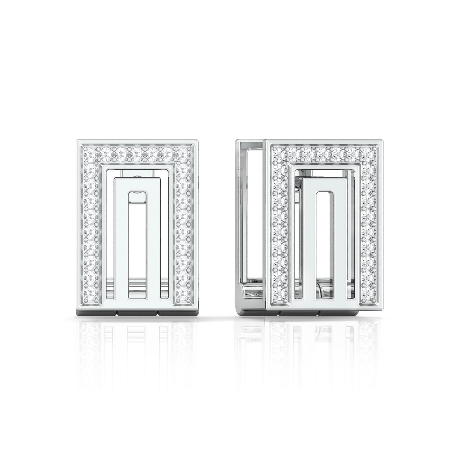 Frame of Mind Diamond Earrings