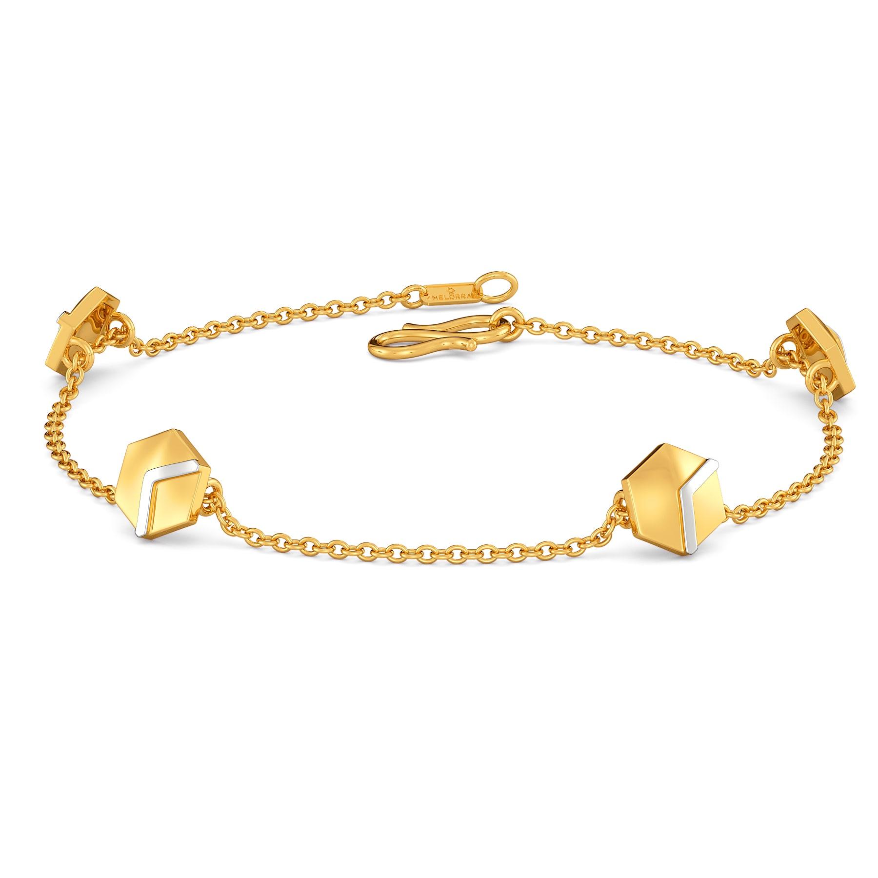 Hexa-Face Gold Bracelets