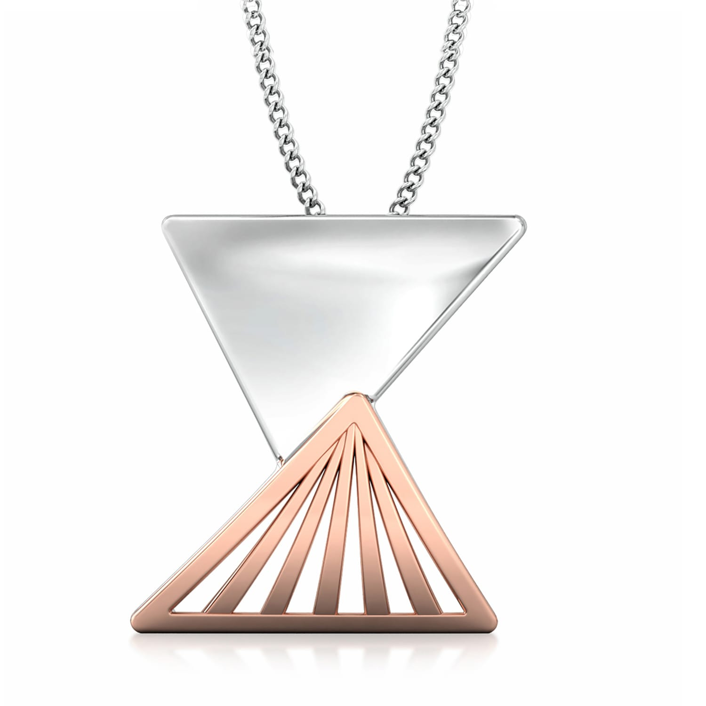 Triangular Drift Gold Pendants