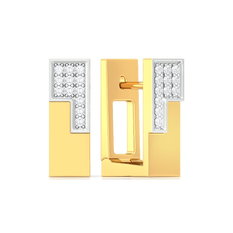 Jigsaw Diamond Earrings