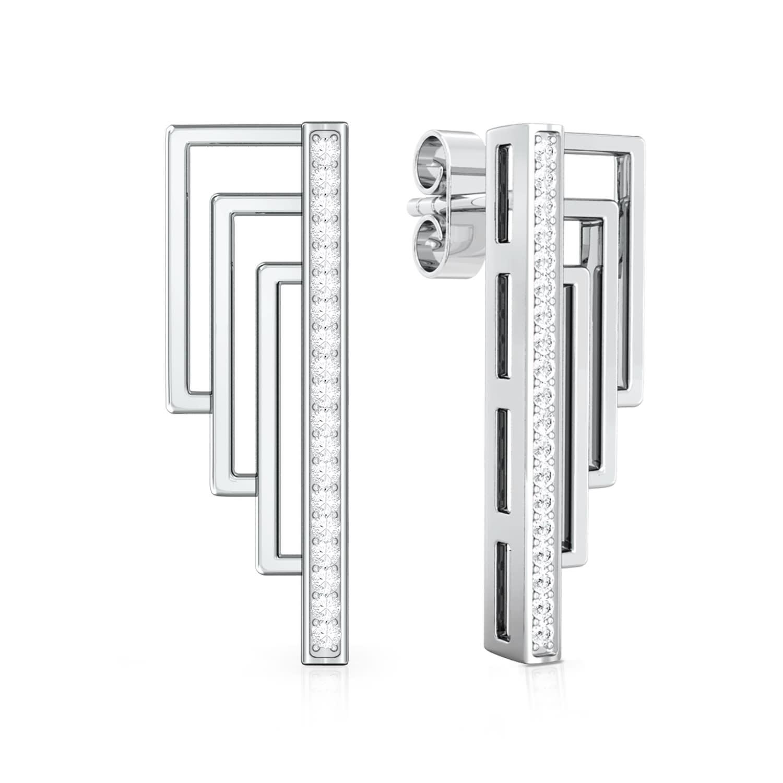 Tri-Connect  Diamond Earrings
