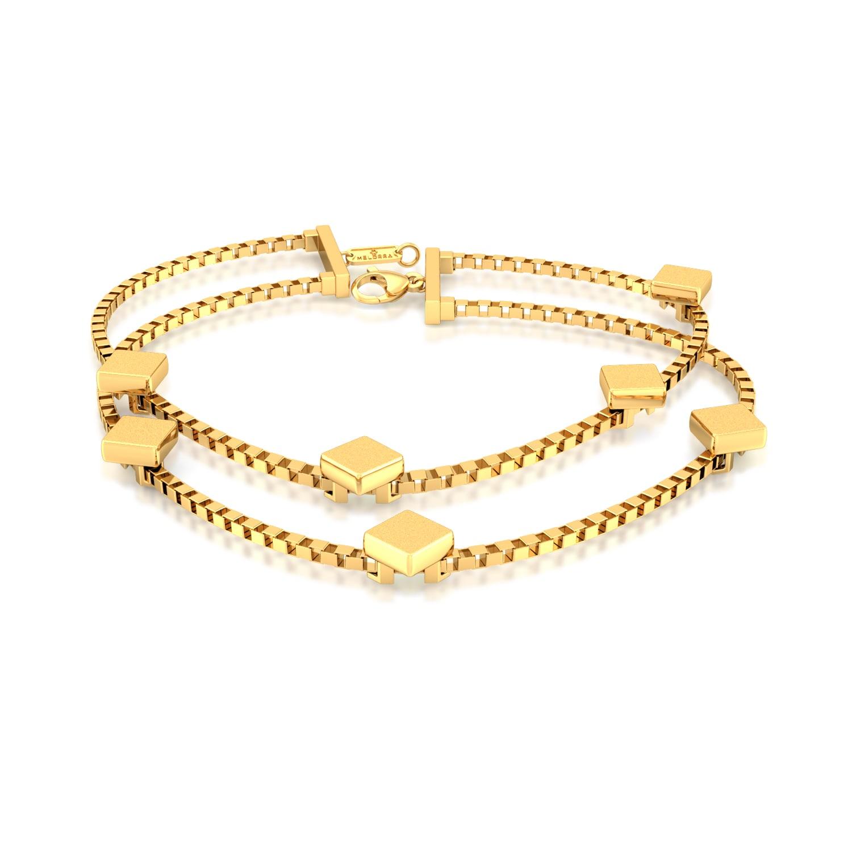 Tetracube Gold Bracelets