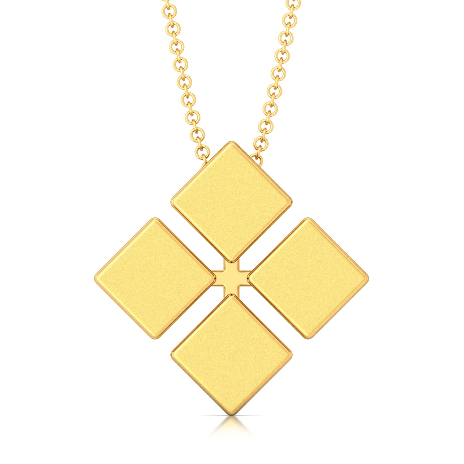 Tetracube Gold Pendants