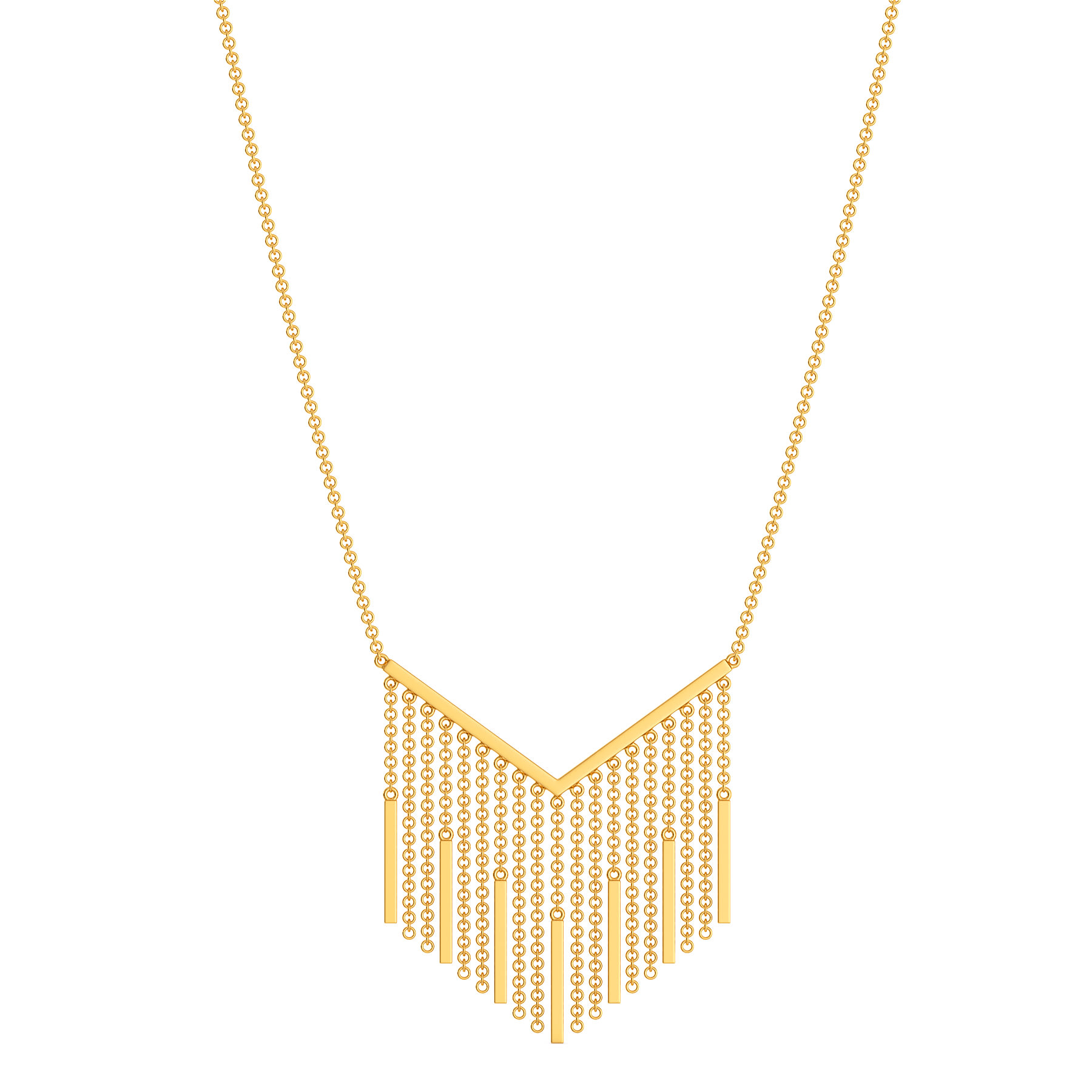 Fringe Fallout Gold Necklaces