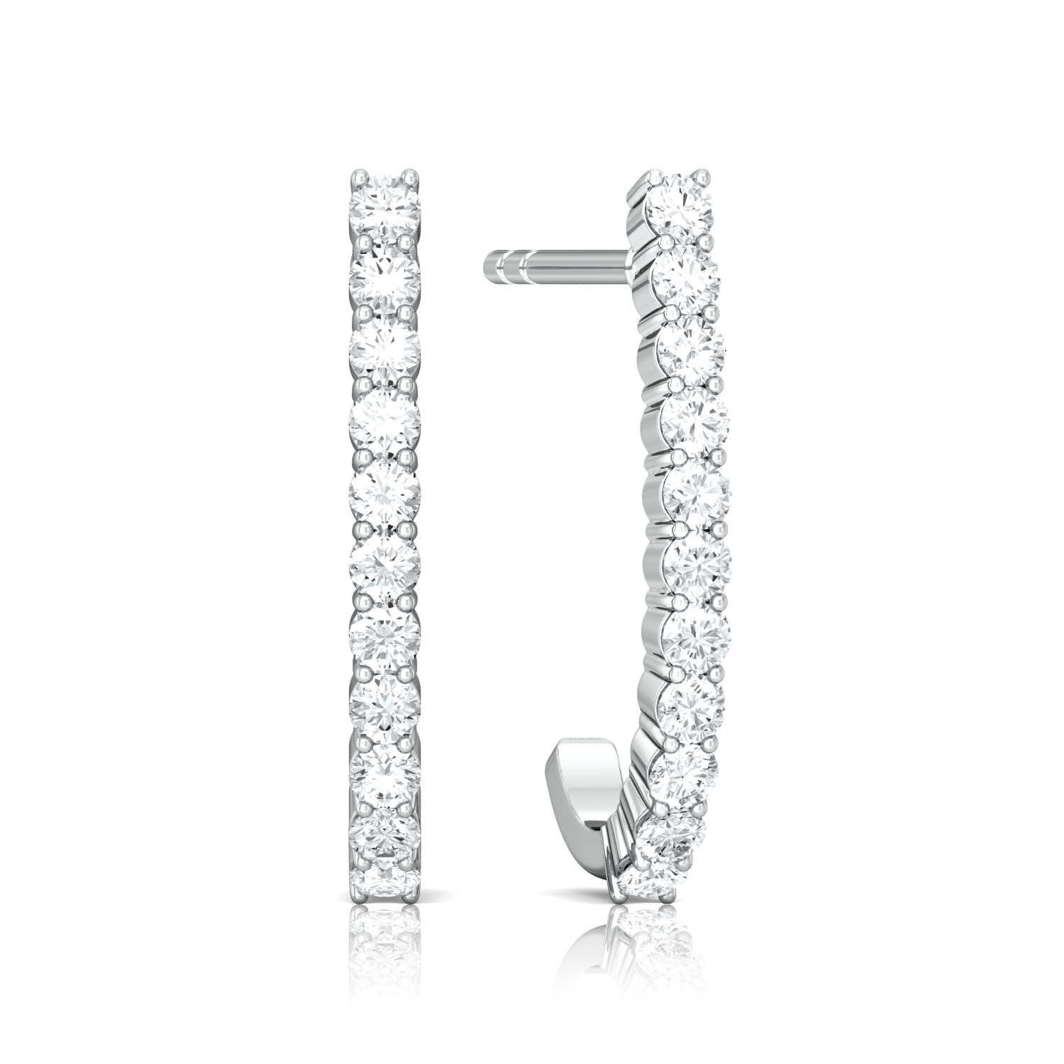 Line of Sparkle Diamond Earrings