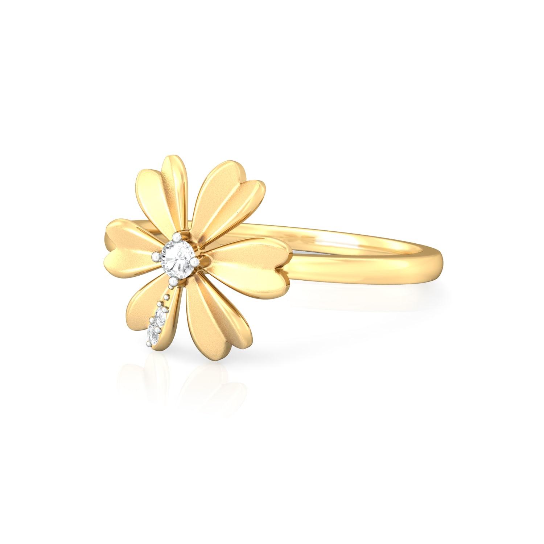 Peek-a-Bloom Diamond Rings