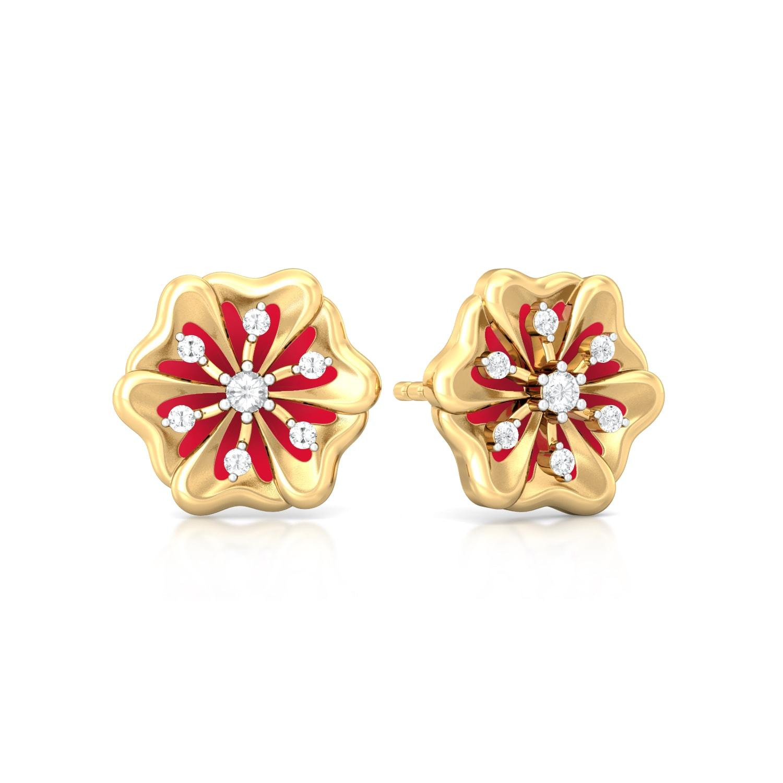 Desert Rose Diamond Earrings