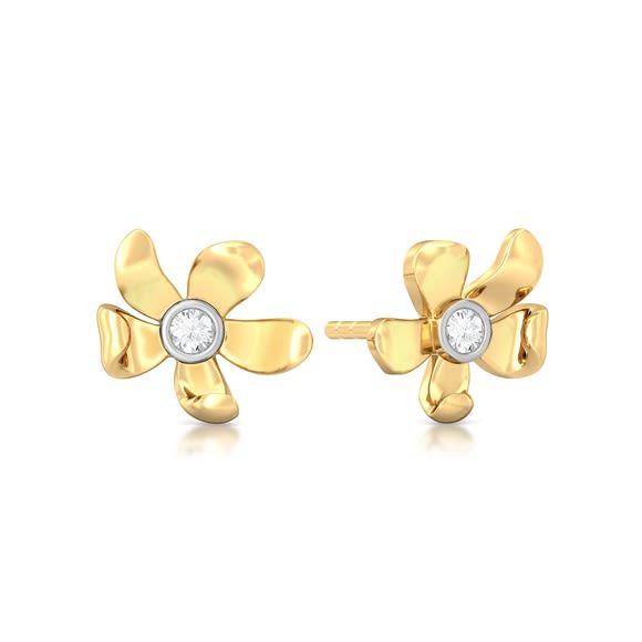 Blooming Floret Diamond Earrings