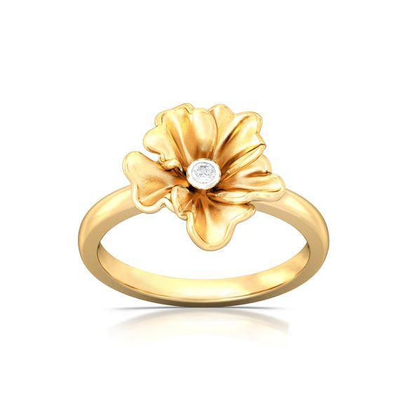 Yellow Carnation Diamond Rings