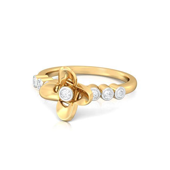Flora Aura Diamond Rings