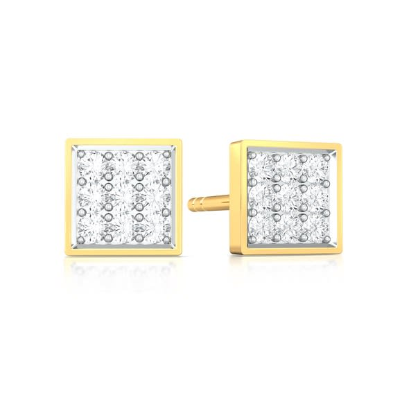 All Square Diamond Earrings