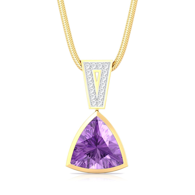 Deep Purple Diamond Pendants