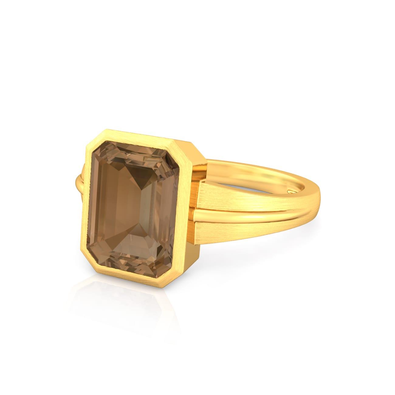 Caramel Facets Gemstone Rings