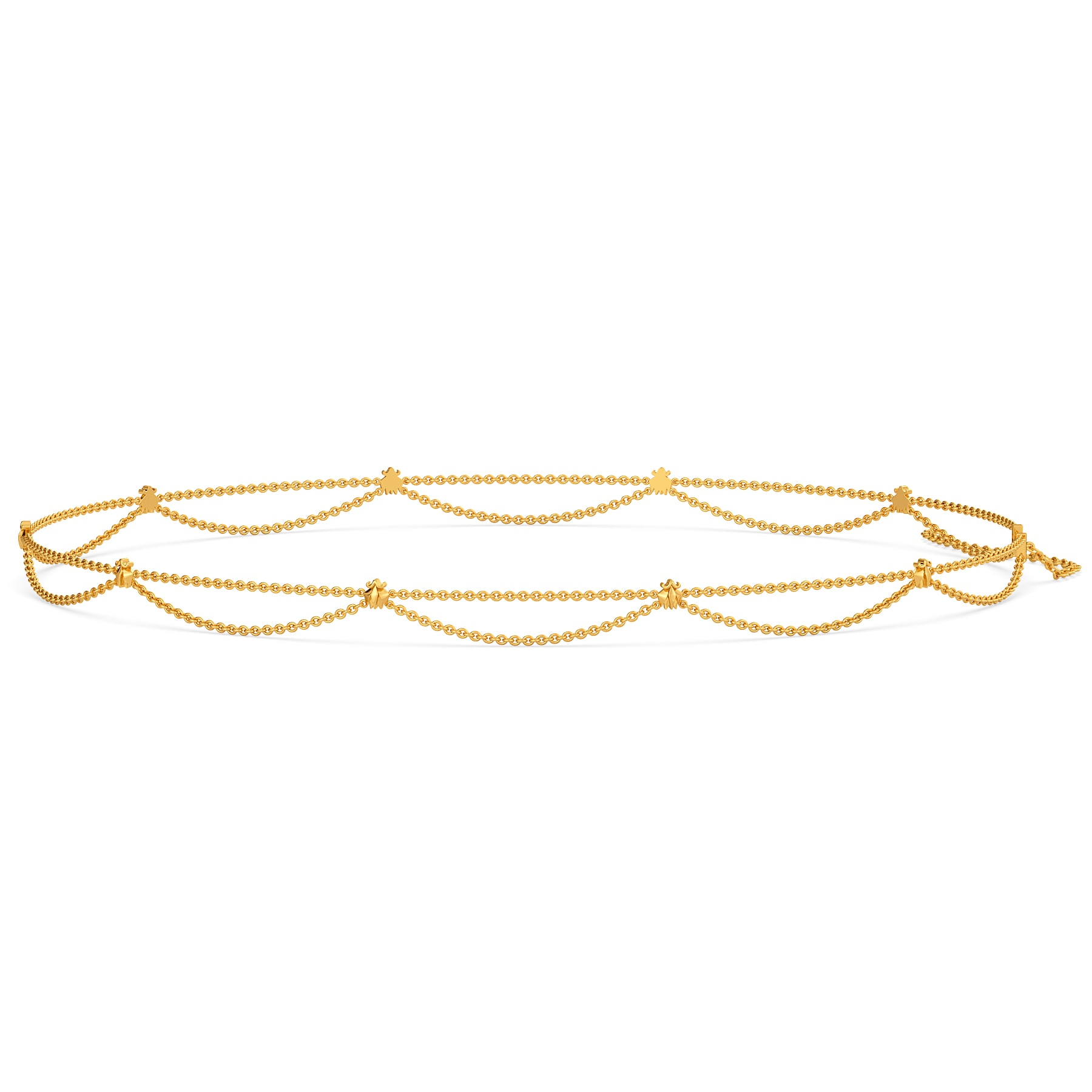 Lotus Reflections Gold Waist Chains
