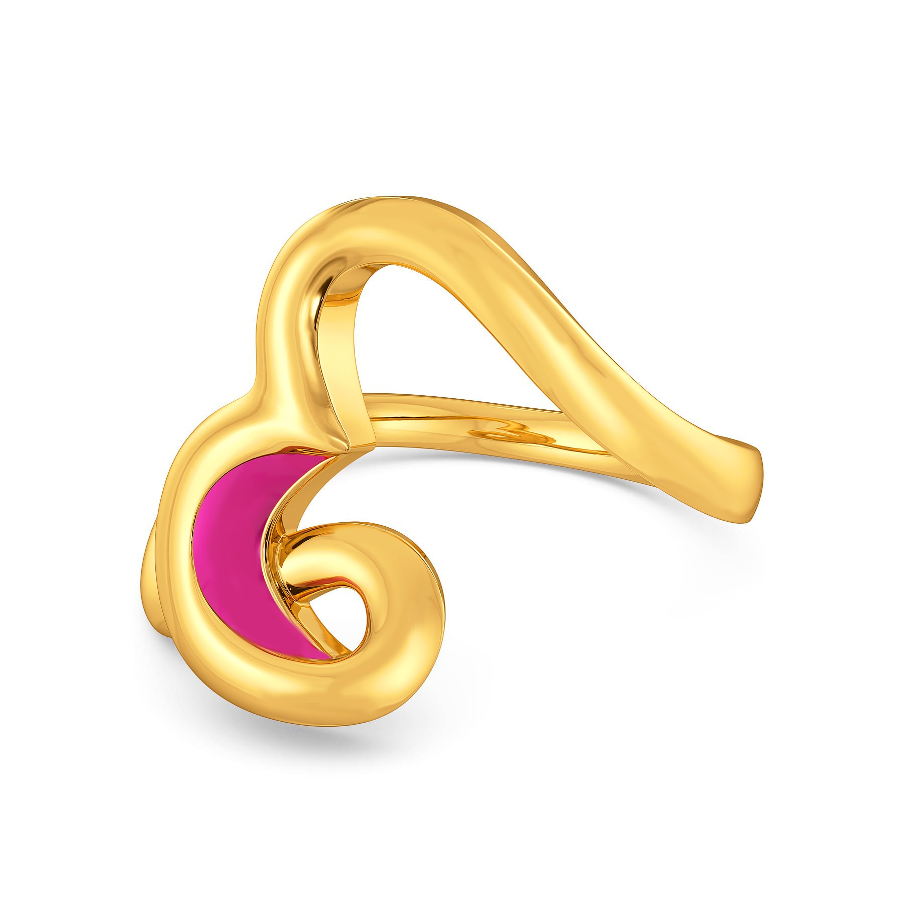 Fuchsian Hearts Gold Rings
