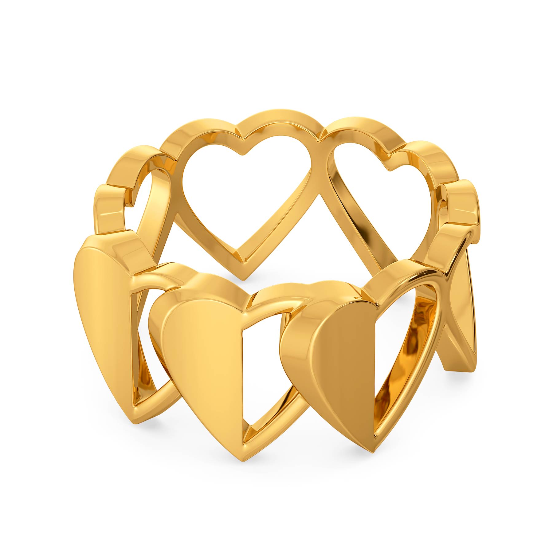 Half of My Heart Gold Rings
