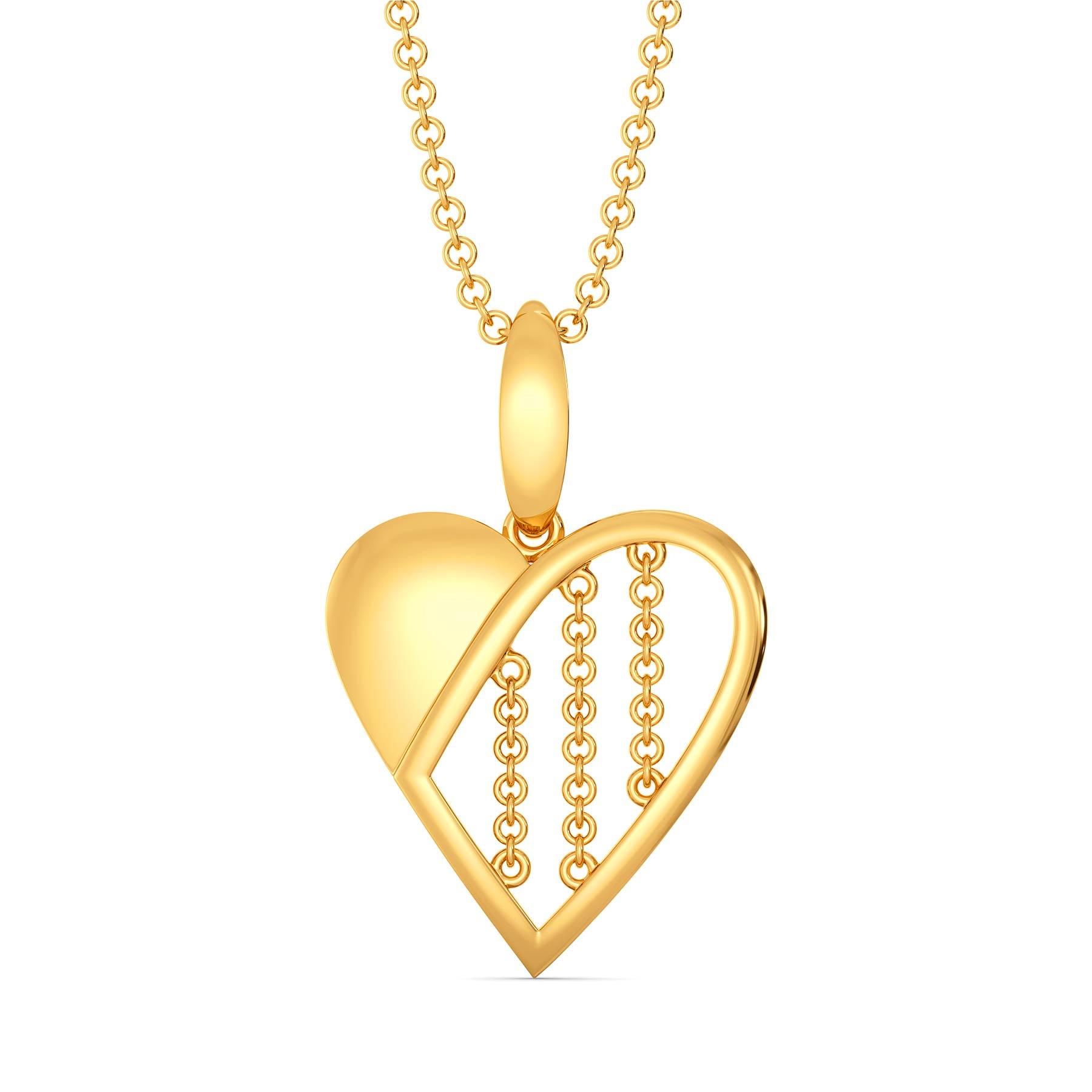 Half of My Heart Gold Pendants
