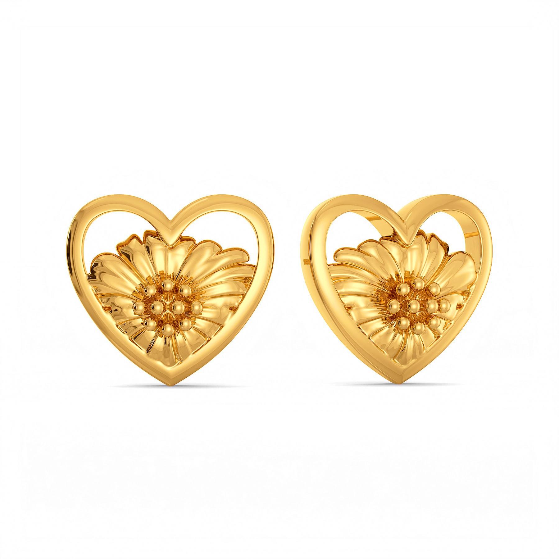 Flower Kissed Gold Earrings