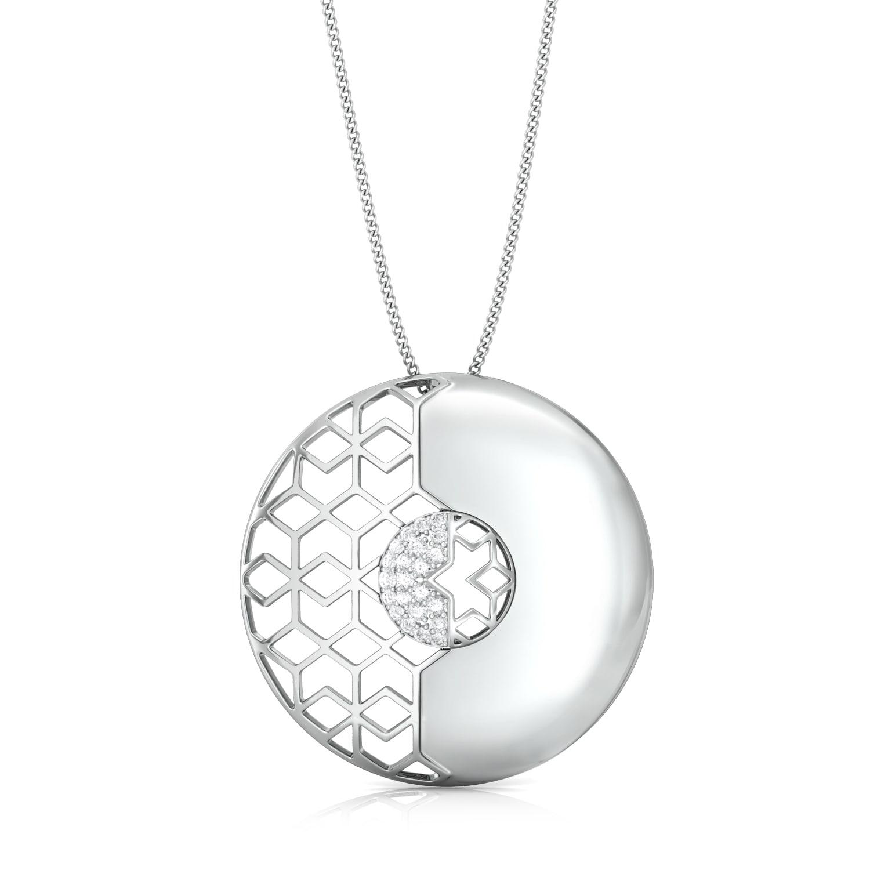 Polygon Mesh Diamond Pendants