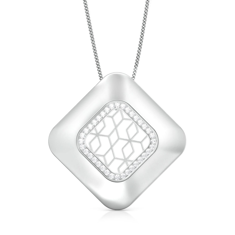Lattice Lace  Diamond Pendants
