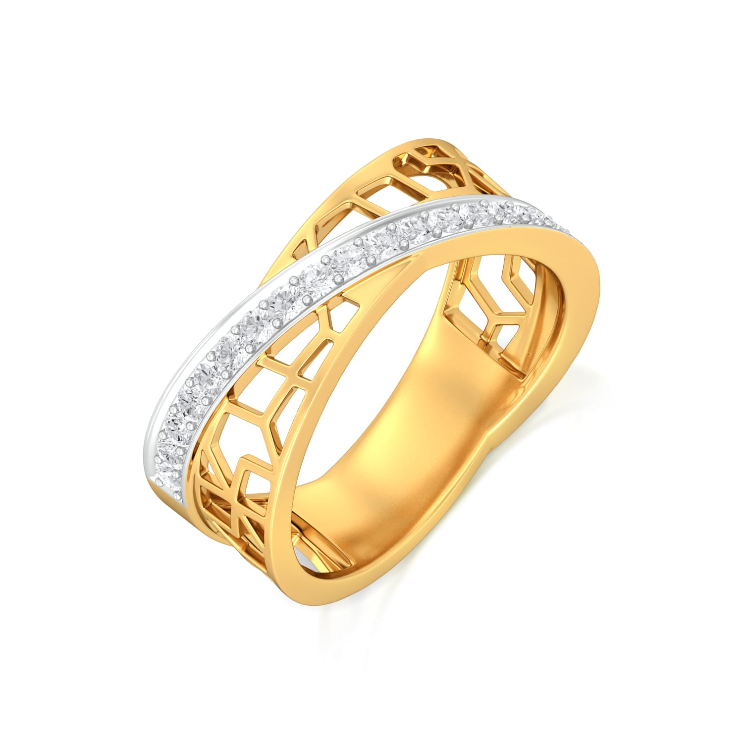 Crossover Lace Diamond Rings