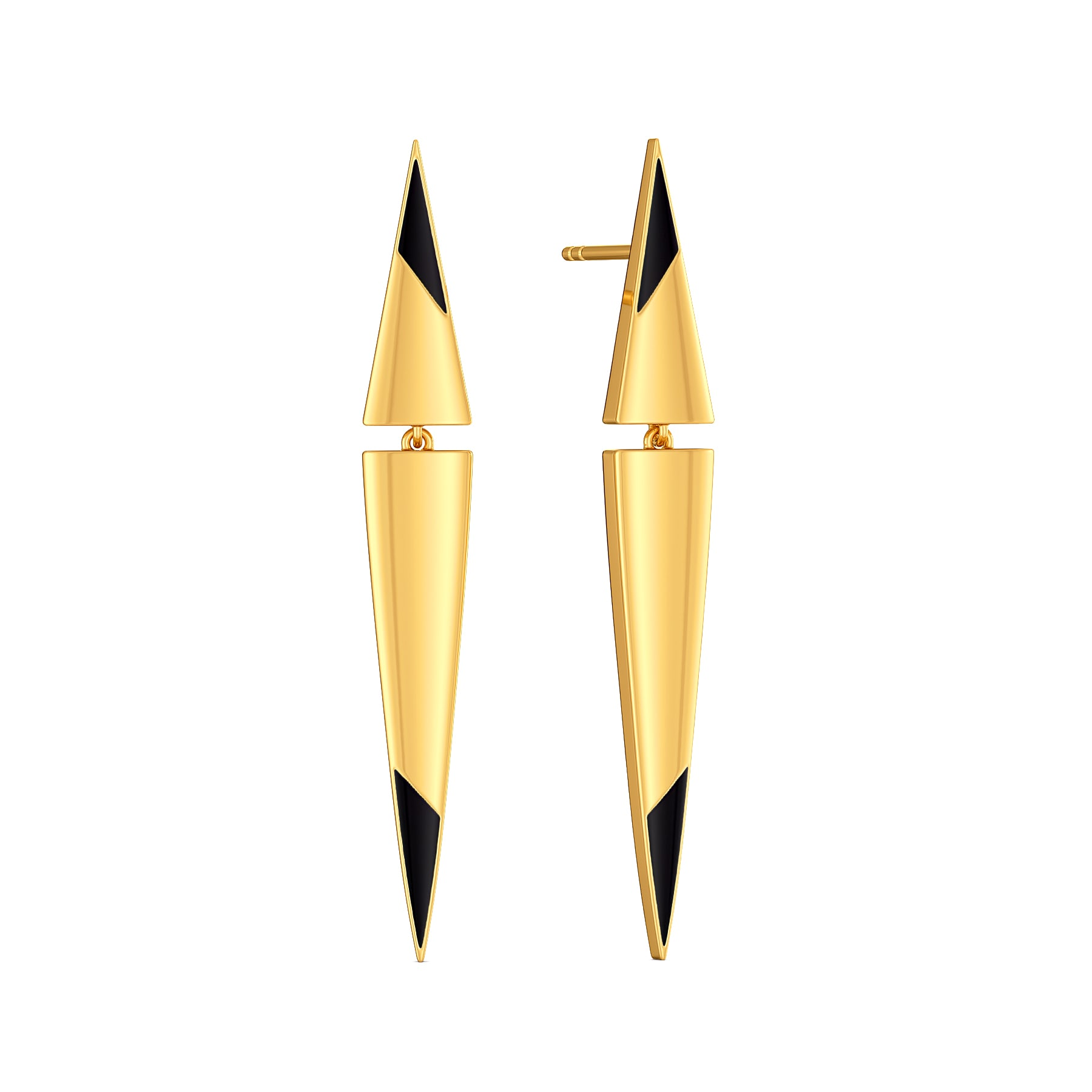 Leather Love Gold Earrings