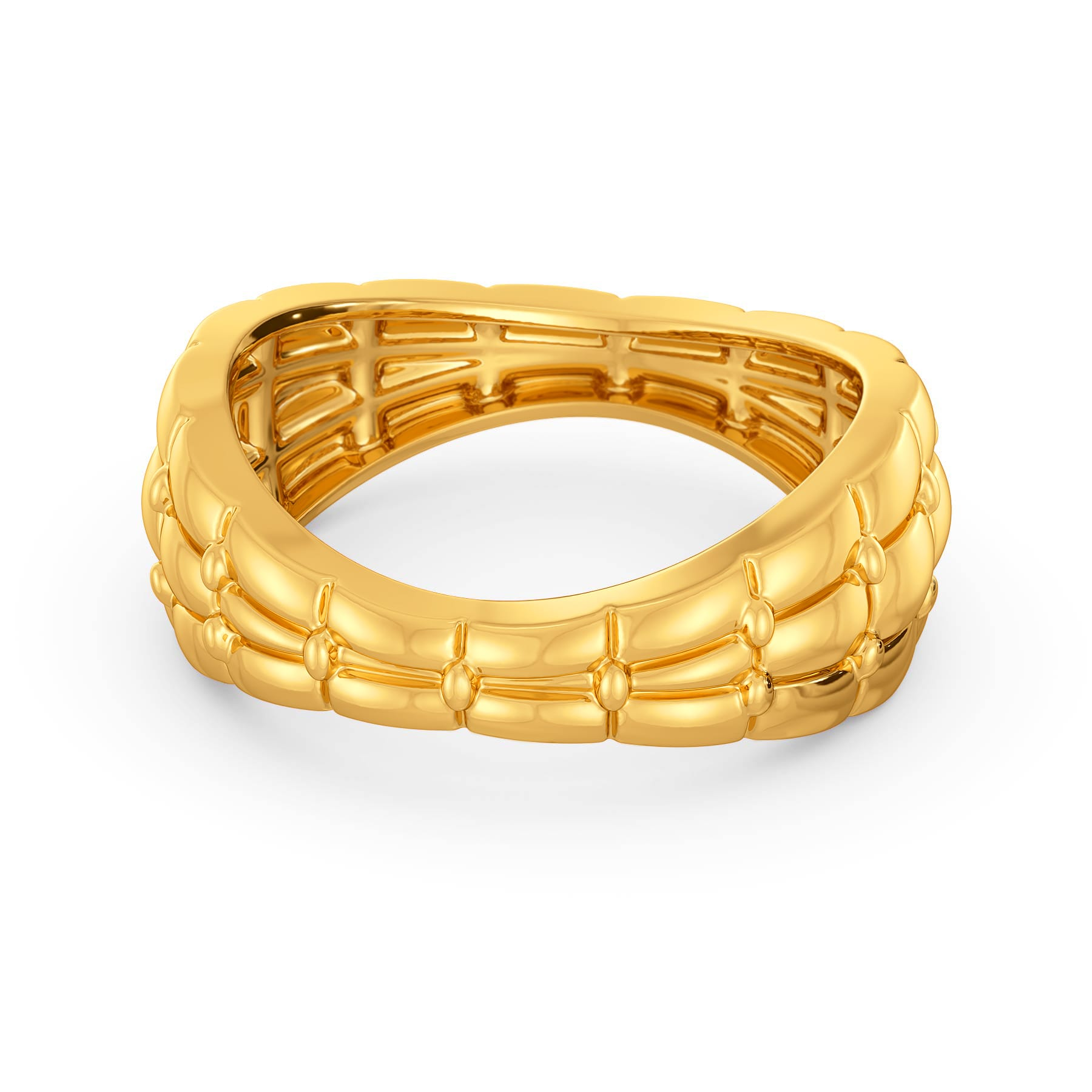 A Quilt Stitch Gold Rings