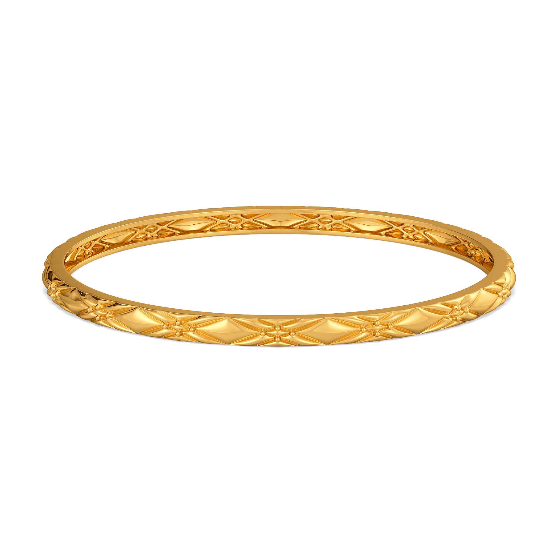 Cozy Weaves Gold Bangles