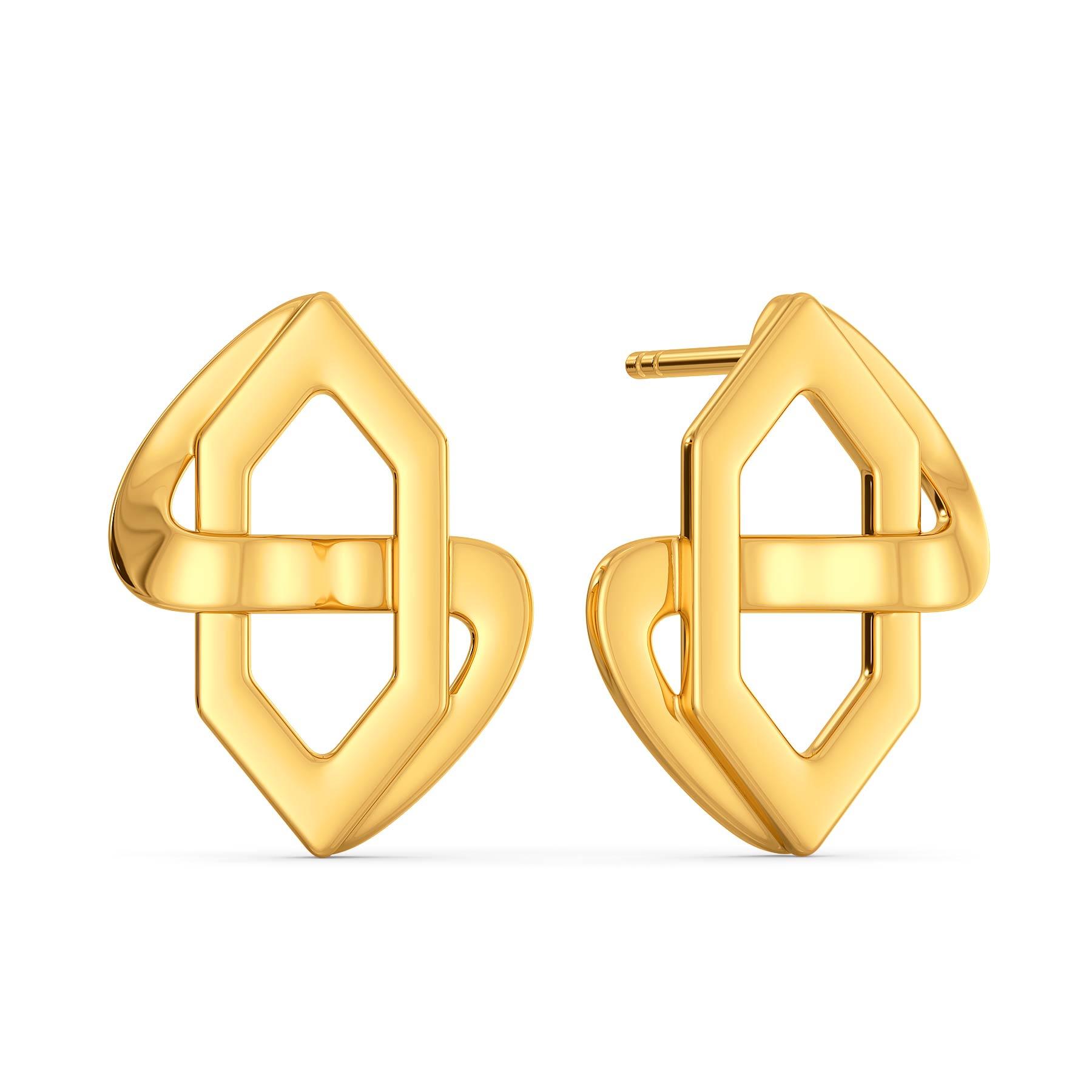 Short N Suit Gold Earrings