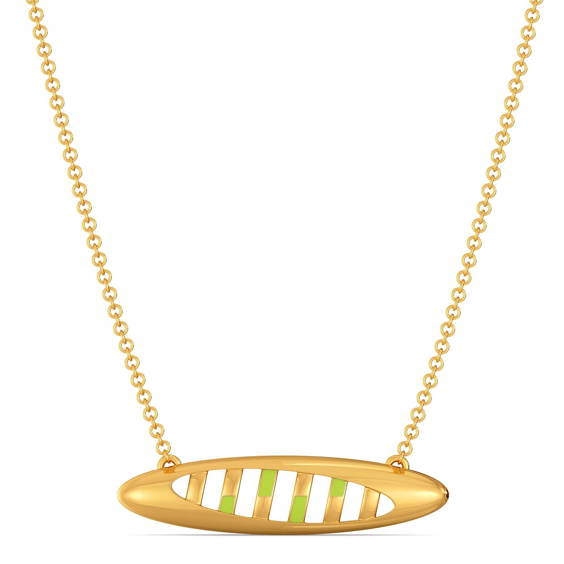 Lime Limerick Gold Necklaces