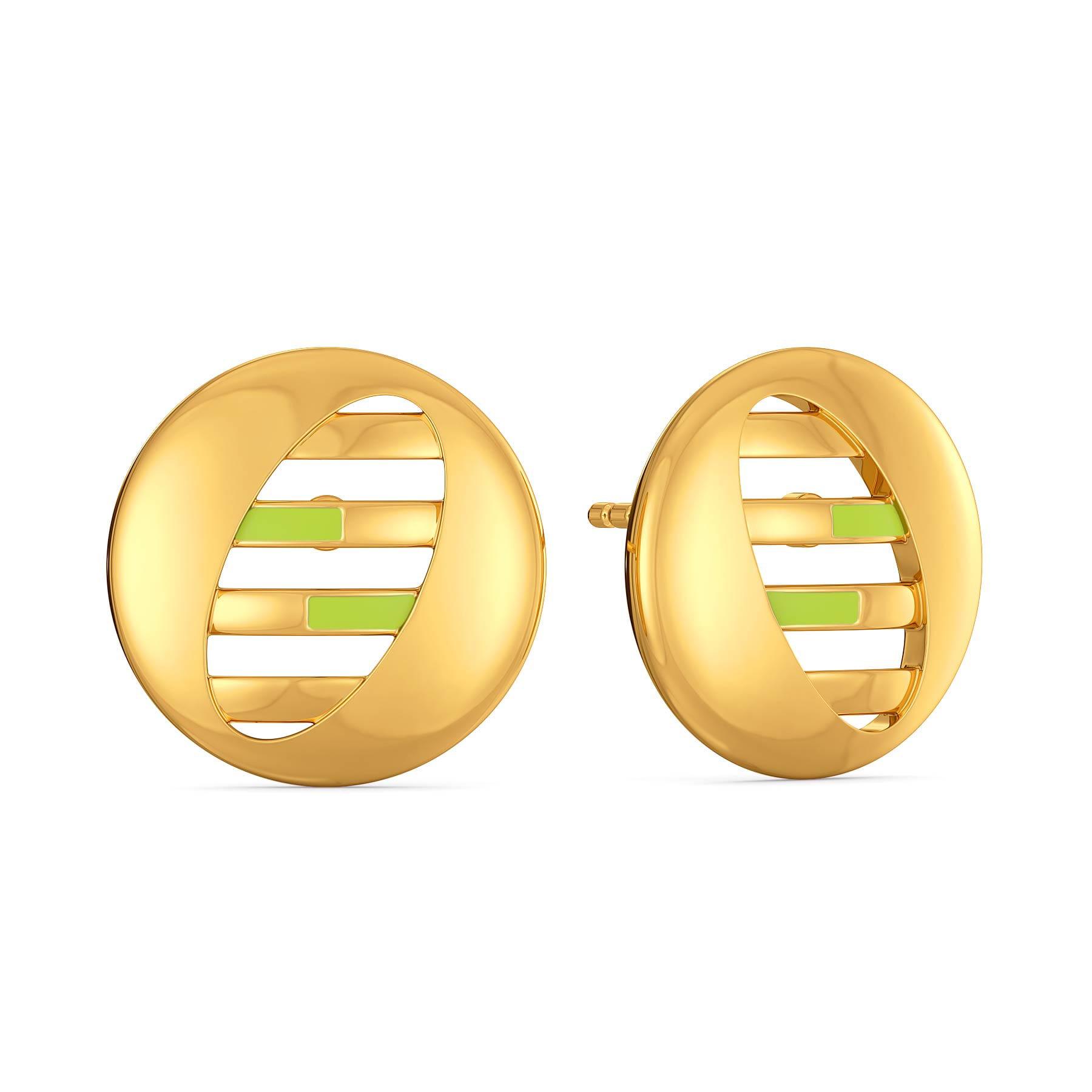 Lime Limerick Gold Earrings