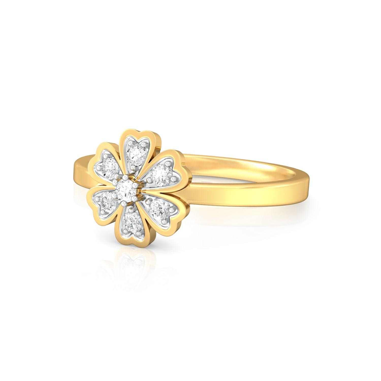 Star of Hearts Diamond Rings
