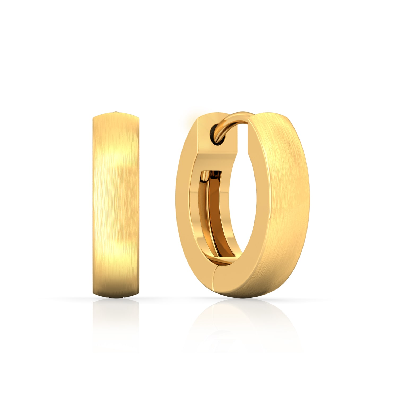Golden notes Gold Earrings