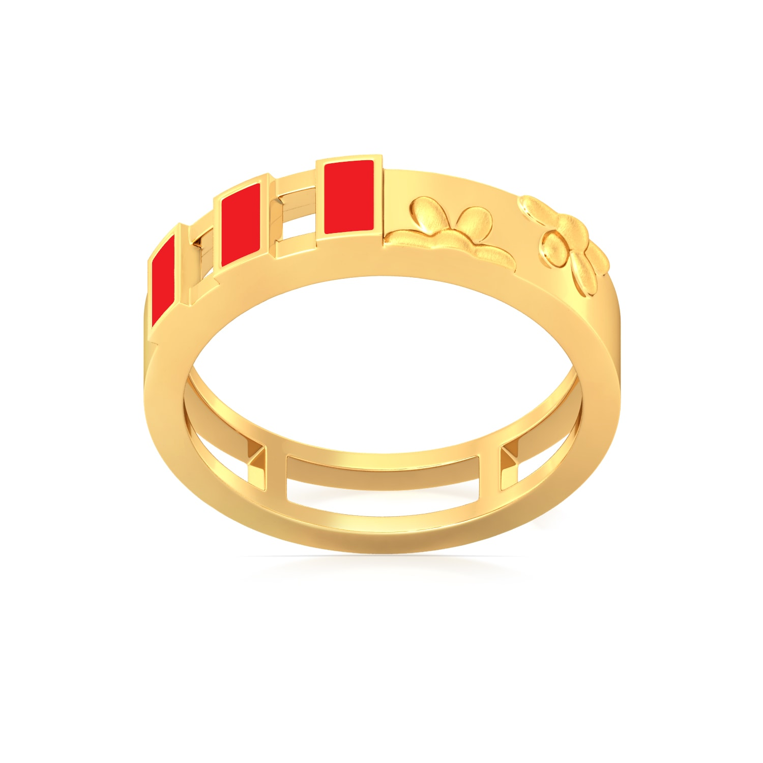 Opposites attract  Gold Rings