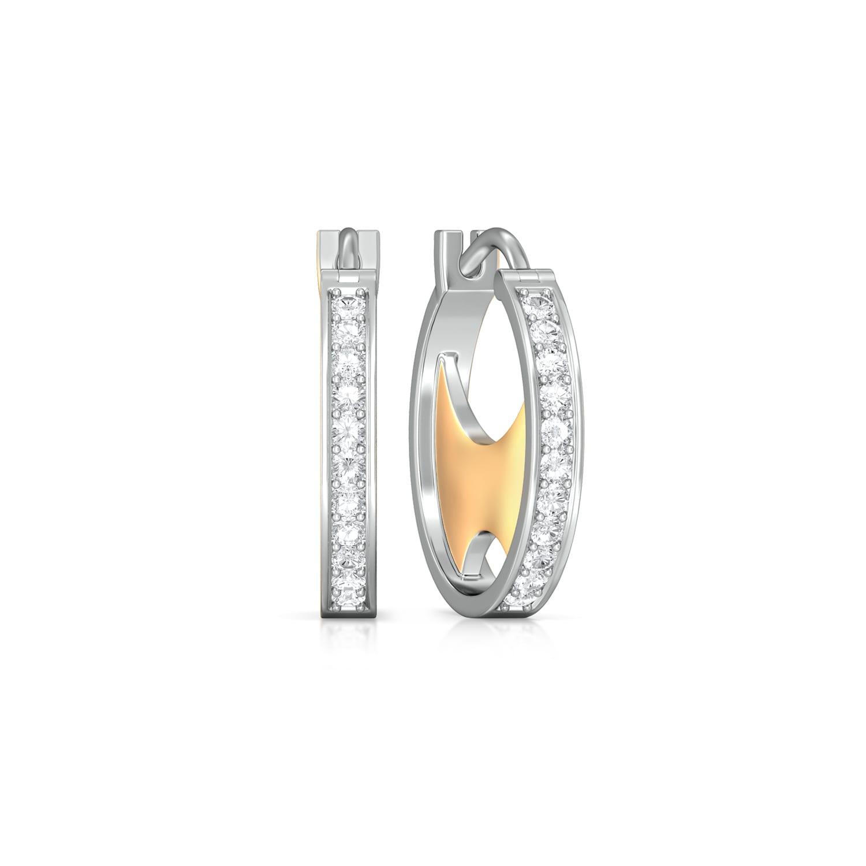 Opposite Arcs Diamond Earrings