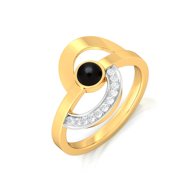 Swing-Ring Diamond Rings
