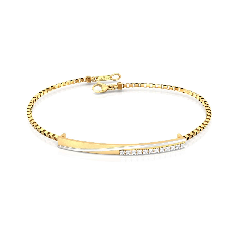 Crossed Tracks Diamond Bracelets
