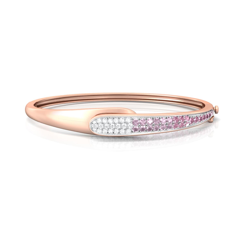 Pink Gouache Diamond Bangles